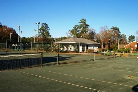 The club house offers a place to relax after a tough tennis match